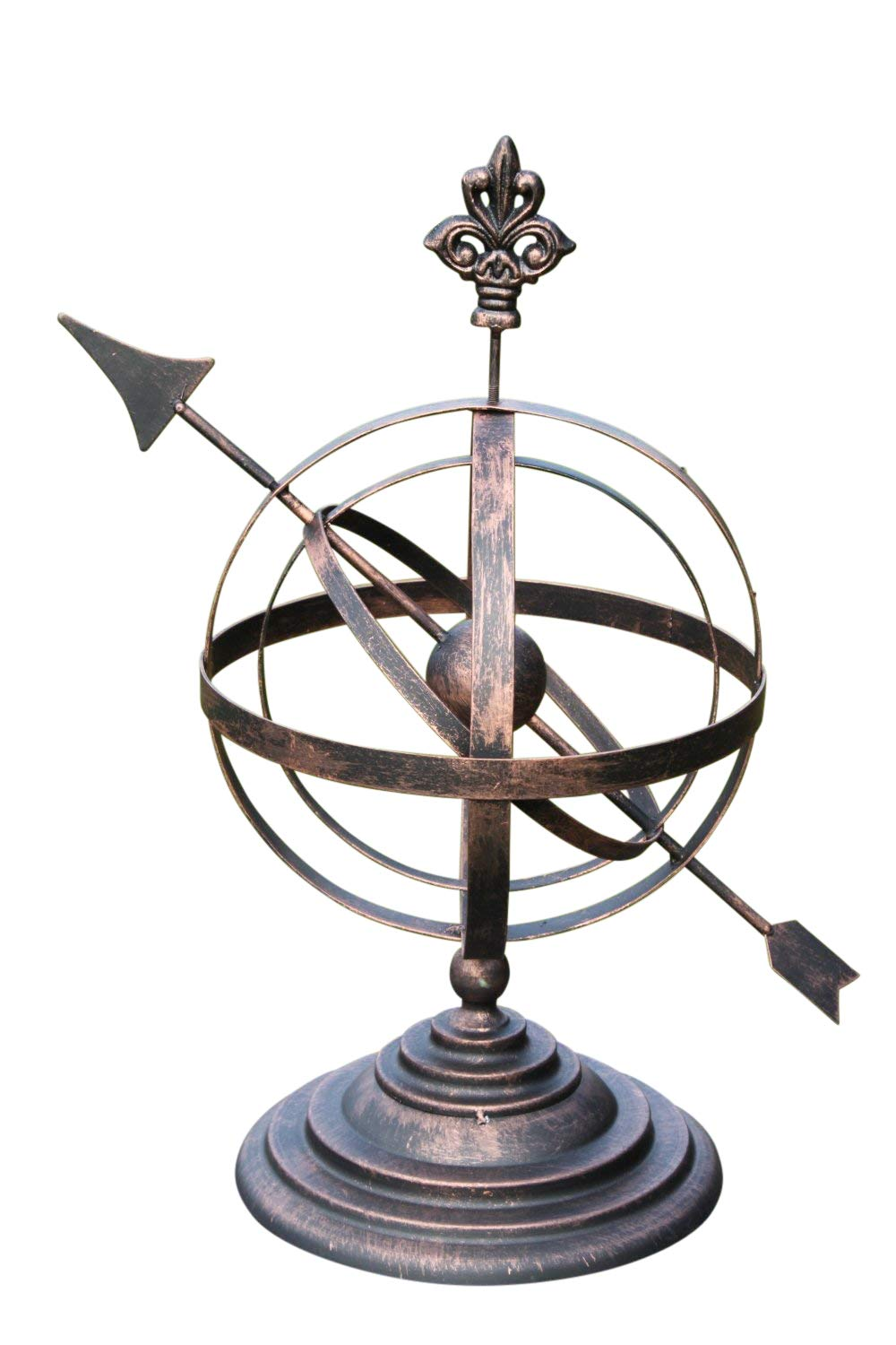 Garden Market Place Steel Decorative Armillary Sundial in an Antique Bronze Finish OLIVE GROVE