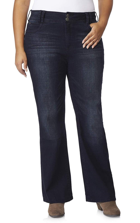 WallFlower Womens Plus-Size Instastretch Curvy Bootcut Jeans WBM08234P