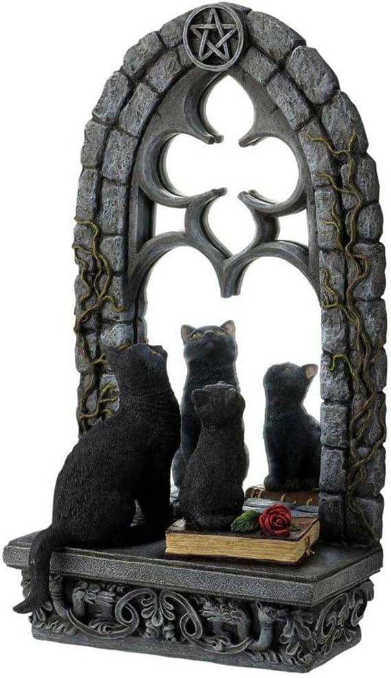 Gothic Espejo con gatos como Aphrodite Gold decorativa para Halloween: Amazon.es: Juguetes y juegos