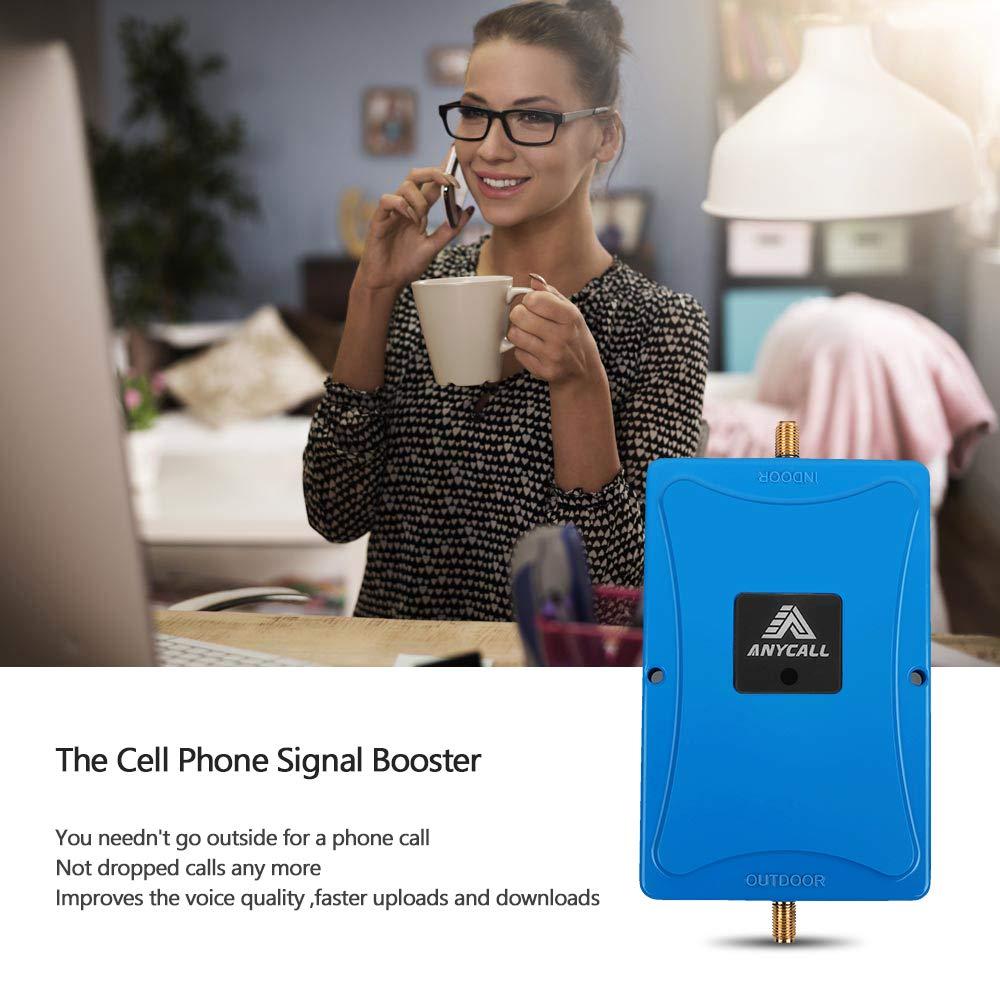 ANYCALL Amplificador Cobertura Movil 2G//3G//4G 5-Banda Repetidor Se/ñal Movil 800//900//1800//2100//2600MHz Mejorar la Red y Llamar para Movistar//Orange//Yoigo//Vodafone
