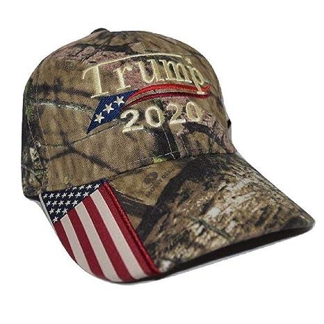 Amazon.com   Donald Trump 2020 Cap Mossy Oak camo hat with American ... 7a132f032cf