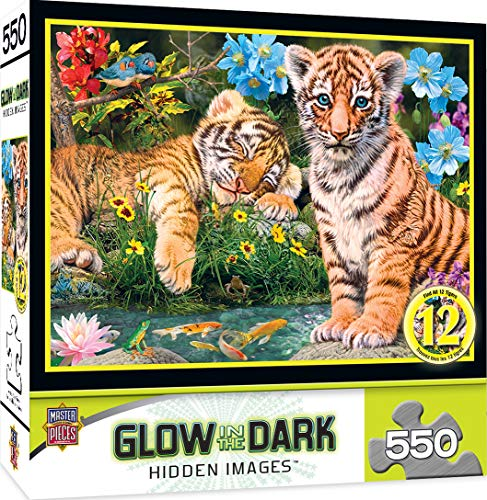 MasterPieces Hidden Images Glow-in-The-Dark Jigsaw Puzzle, A Watchful Eye, Featuring Art by Steve Read, 550 Pieces