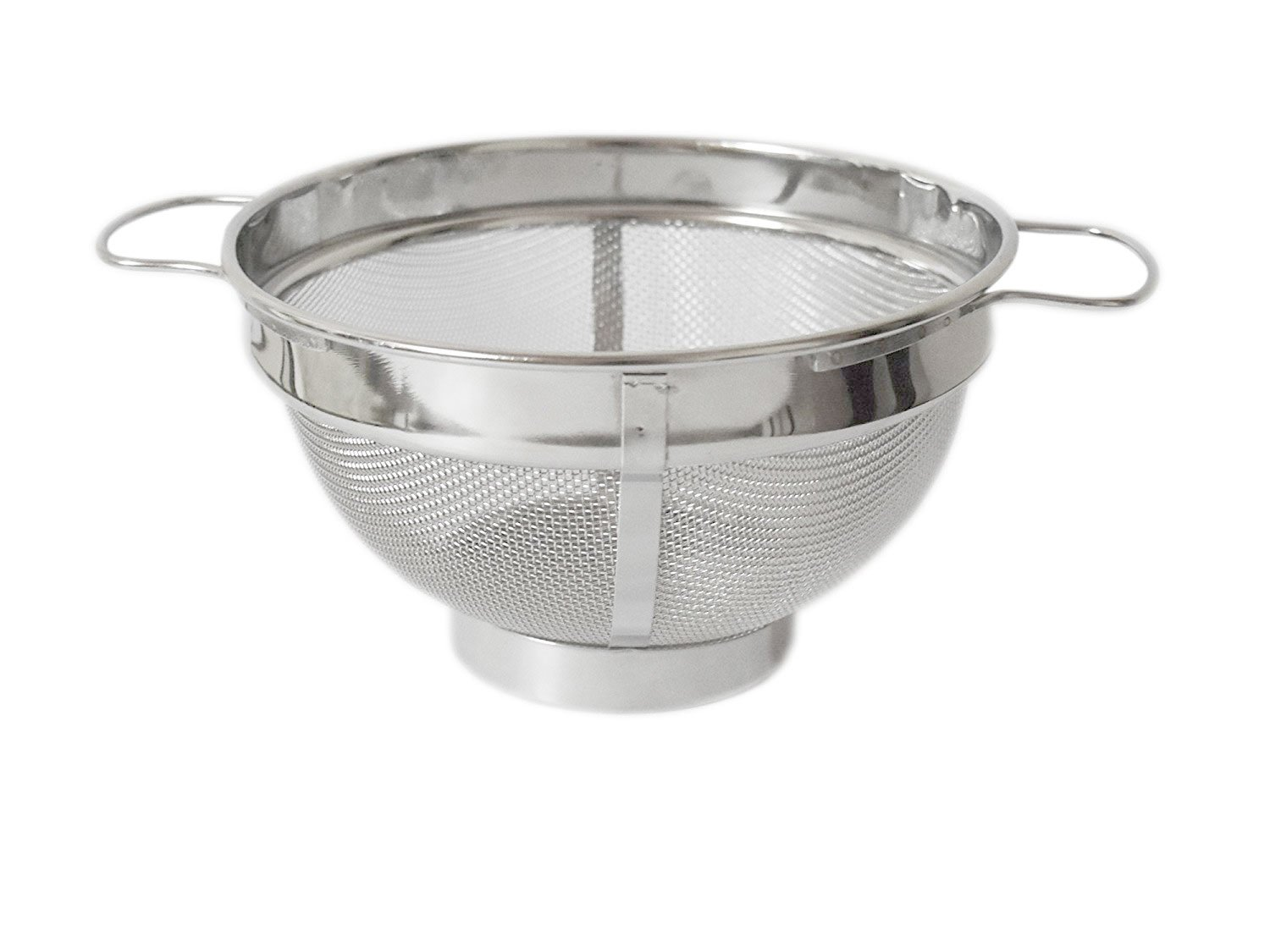 Duggu Palace Heavy Duty Stainless Steel Colander, Deep Colander, Steel Colander with Handle, 7.8 Inch, 5 Quart, Made in India