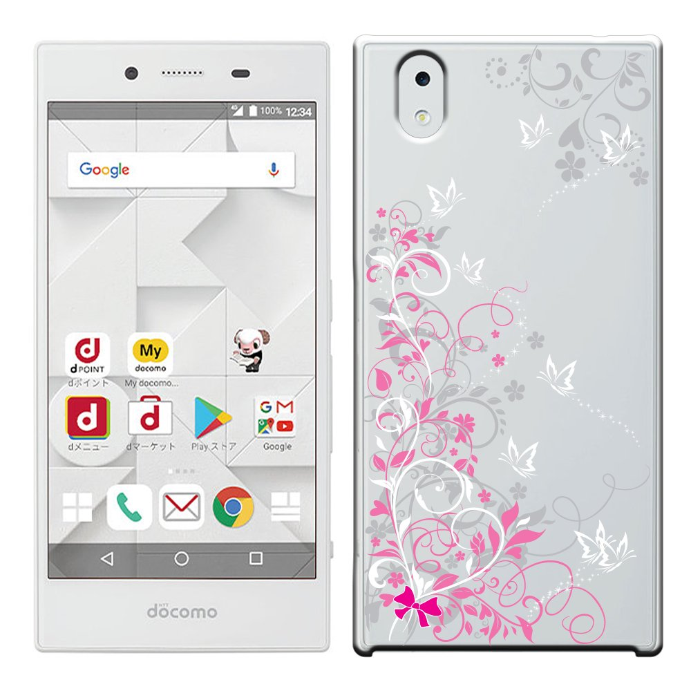 a85d4c3af3 Amazon | 「Breeze-正規品」iPhone ・ スマホケース ポリカーボネイト [透明-White] MONO MO-01K ケース  docomo モノMO01K カバー 液晶保護フィルム付 全機種対応 ...