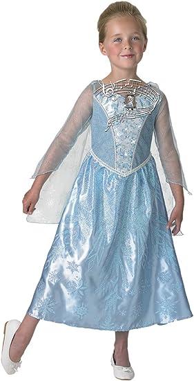 Frozen - Disfraz Elsa con luz y música, talla 7-8 años (Rubies ...