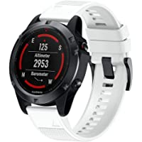 BarRan Silicone Watchband for Fenix 5, Soft Silicone Easy Install Sport Watch Strap replacement for Garmin Fenix 5/Fenix…