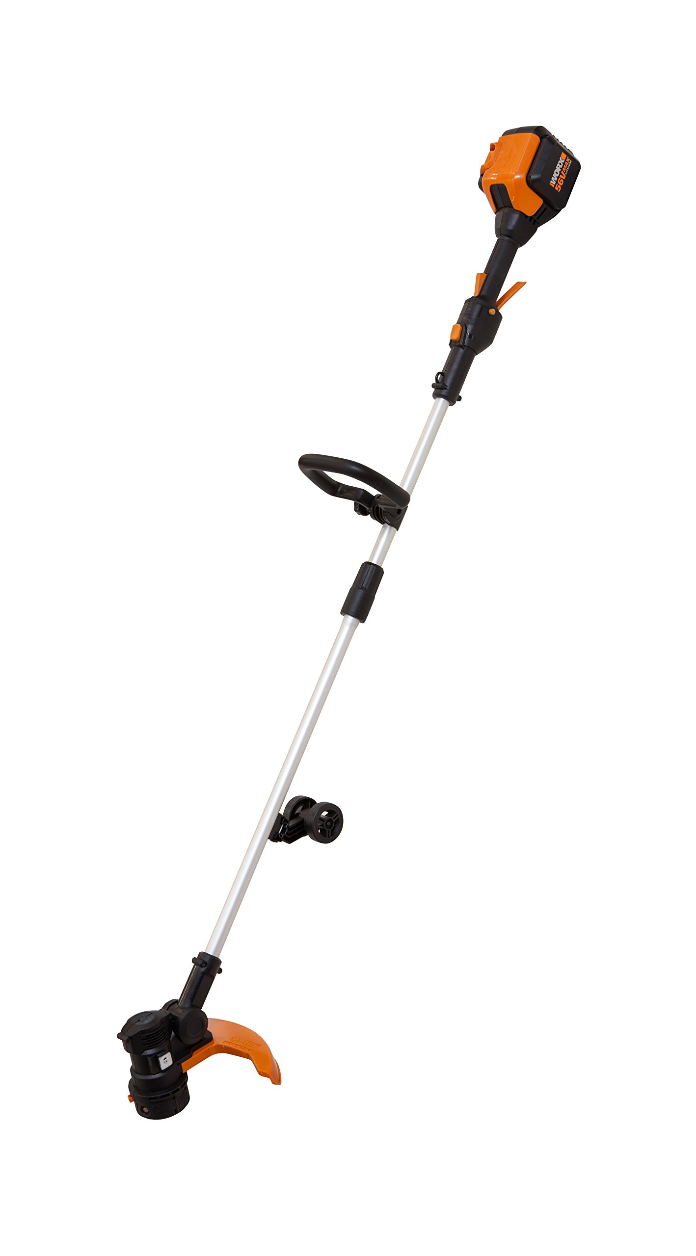 WORX 13'' Cordless Grass Trimmer with 56V Max Li-Ion, In-line Wheeled Edging and includes 90min. Charger - WG191 by Worx