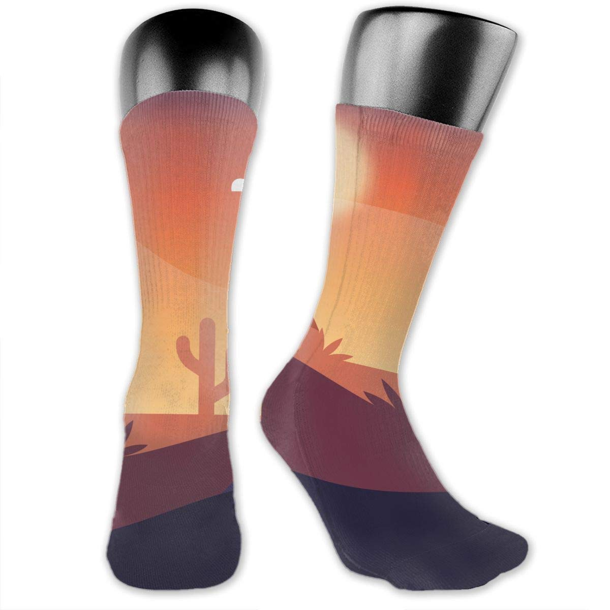 OLGCZM Desert Landscape Design Men Womens Thin High Ankle Casual Socks Fit Outdoor Hiking Trail