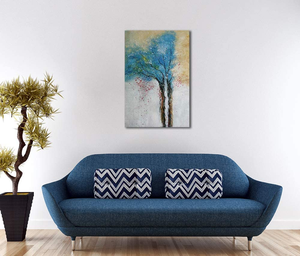 20x60cmx5pcs 8x24inchx5pcs multicolore Wieco Art Lot de 5 tableaux /à lhuile abstraits en forme de c/œur sur toile pr/ête /à /être accroch/ée pour d/écoration de maison ou de bureau Toile