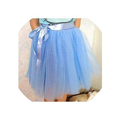 93b4b3089d 7 Layers Midi Tulle Skirt for Girls Skirts Women Ball Gown Party Petticoat  Lolita sai, Lake Blue, at Amazon Women's Clothing store:
