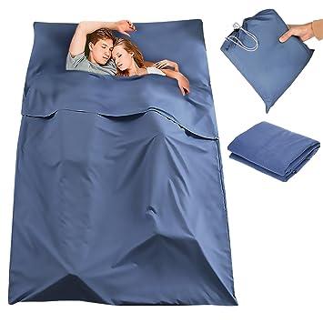 Saco de Dormir Liner, CAMTOA Ultraligero Bolsa de Dormir Liner, Portátil Sleeping Bag Liner