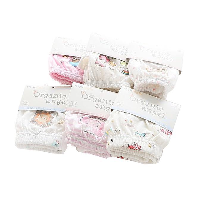 Pack de 6 100% algodón orgánico infantil, diseño de niños y niñas Super Suave Breve Ropa interior braguitas: Amazon.es: Ropa y accesorios