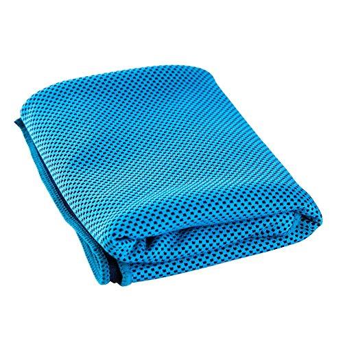 Sofortige Kühlung Handtuch Eis Kalt Handtuch - GreForest Microfiber Extreme Kühlung Handtücher Ultra Soft, Breathable für Sport, Fitness, Golf, Yoga, Laufen, Camping, Reisen, Küche, Fieber (blau, 39x12 in)