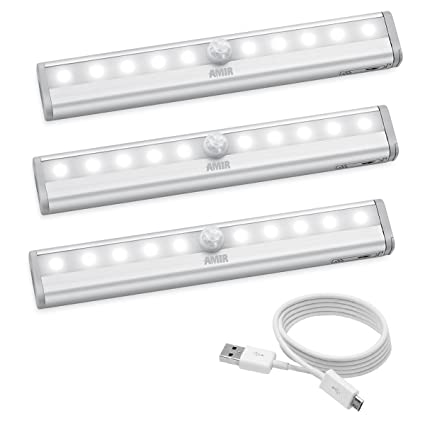 Delicieux AMIR Motion Sensing Closet Lights, DIY Stick On Anywhere, 10 LED Wireless  Night