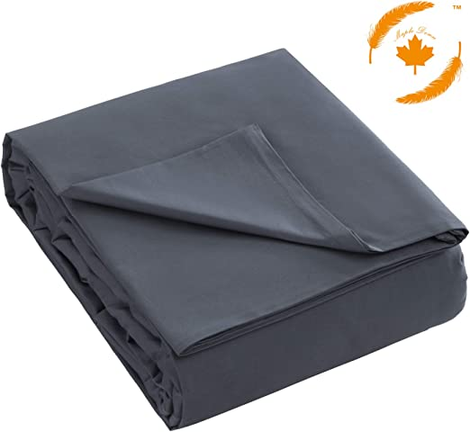 60x80 Kids Weighted Blanket 60X80 Honren Maple Down Removable Duvet Covers for Adult 100/% Natural Cotton with Zipper Ties Grey//Navy Blue Grey, 60X80