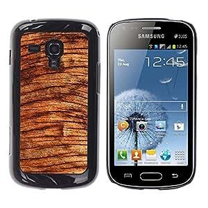 TECHCASE**Cubierta de la caja de protección la piel dura para el ** Samsung Galaxy S Duos S7562 ** Wood Tree Circles Brown Nature Rainforest