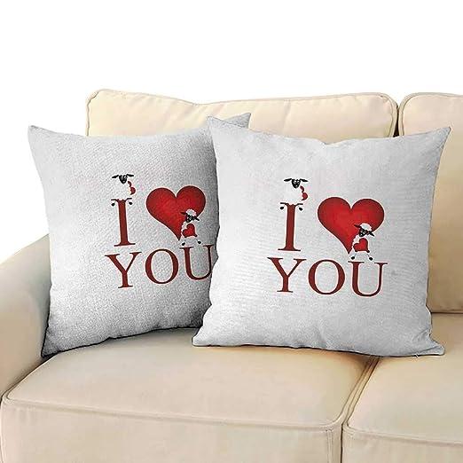 I Love You, cojín para Sala de Estar, Almohadas con Letras ...