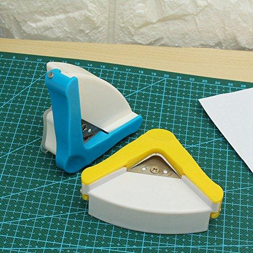 DIY R5 Plastic Corner Rounder Paper Punch Card Photo Cutter Tool Home Decoration Scrapbooking (Random: Color) ()