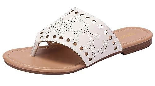 9d2f6264f Amazon.com  Sofree Women s Summer Rhinestone Sandals Flat Slippers ...