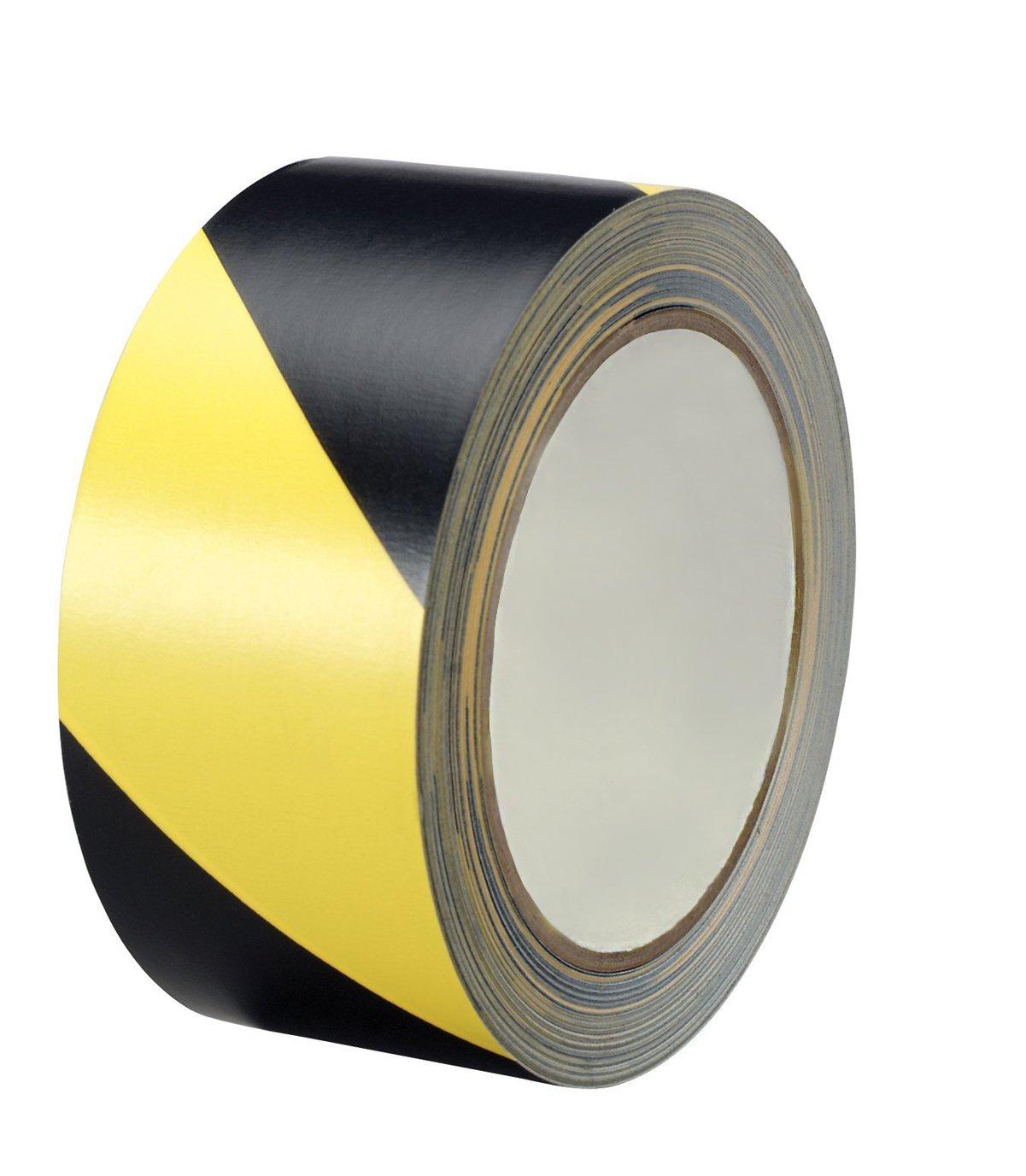 Black & Yellow Hazard Warning Safety Stripe Tape (2\