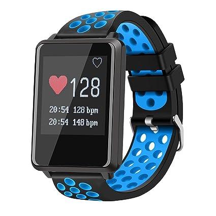 YSCYLY Rastreador de Ejercicios Reloj Inteligente Deportes Impermeable Monitor de Ritmo cardíaco Podómetro Monitor de sueño