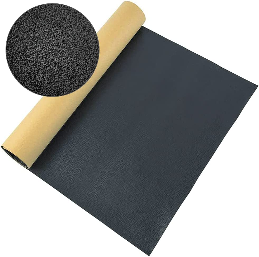 Leather Repair Patch 13.7x54 inch, Black Self-Adhesive Leather Tape, Leather Repair Kits for Sofas, Car Seat, Couches, Furniture, Furniture Chairs, First Aid Vinyl Repair kit