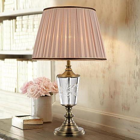 camera da letto lampada da tavolo di cristallo di lusso ...