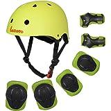 Lanova - Juego de herramientas de protección para niños, 7 piezas, equipo de seguridad deportivo, ajustable, casco para…