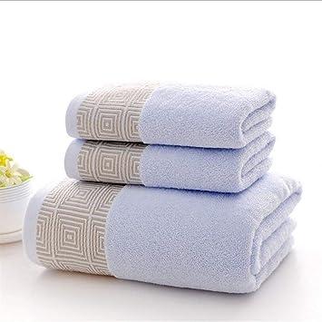 SUxian -Comfortable 3pcs espesó Las Toallas de baño de la Toalla de Mano de la Toalla de algodón del Juego: Amazon.es: Hogar