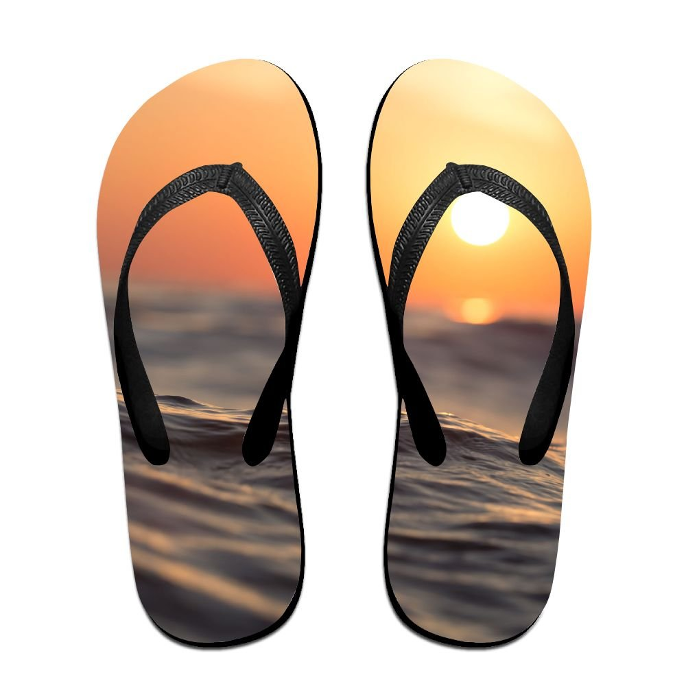 Unisex V Flip Flops Landscape Water Personalized Summer Slipper