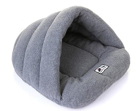 vivibear VIVI Oso Cute Shell Forma Lavable cómodo Polar Suave Perros y Gatos Invierno Cálido Saco