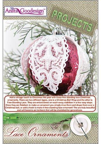 [해외]아니타 Goodesign - 프로젝트 - 레이스 장식품 - 자수 디자인/Anita Goodesign-Projects-Lace Ornaments-Embroidery Designs