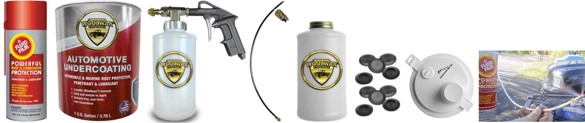 Fluid Film & Woolwax 1 Gallon Undercoating Kit Bundle w/PRO Gun. Straw(Clear) Color. by woolwax (Image #1)