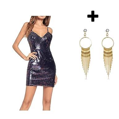 Women Summer Cold Shoulder Sequin Glitter Tube Top Mini Party Dress