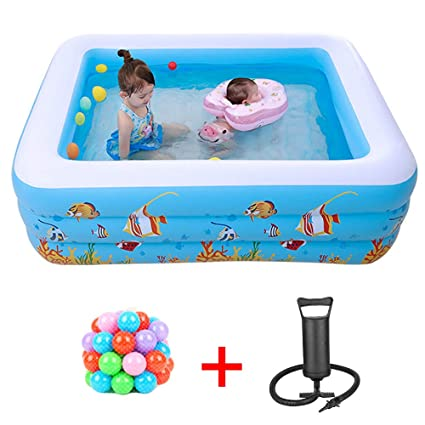 Amazon.com: YANGMAN Piscina inflable familiar con piso suave ...
