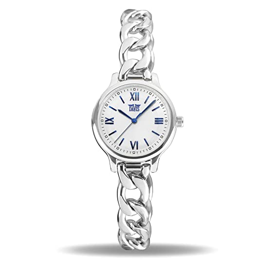 Davis Reloj Analógico para Mujer de Cuarzo con Correa en Acero Inoxidable 2261: Amazon.es: Relojes