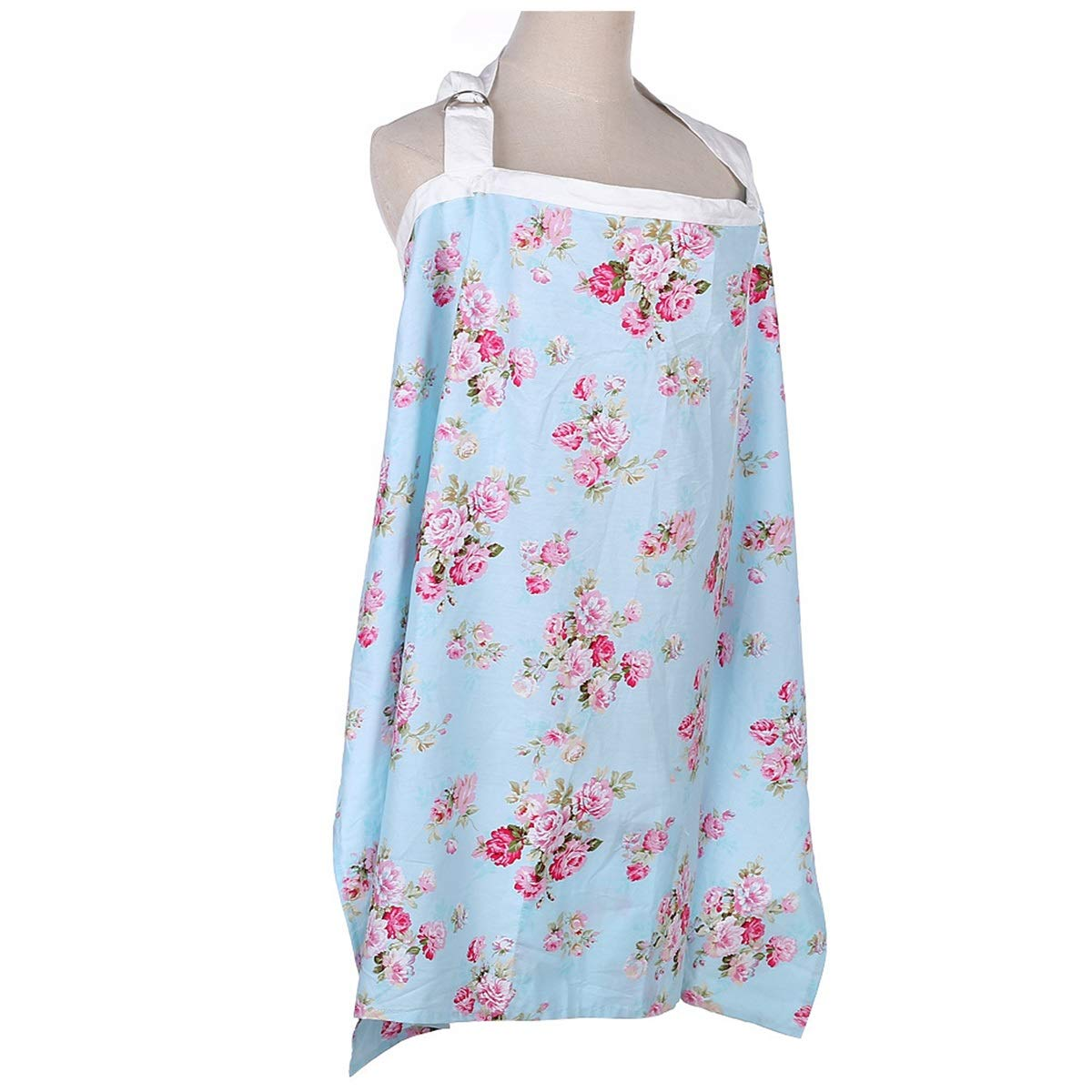 Nursing Cover for Breastfeeding Infants Color : White Flower Apron Cover Up for Breast Feeding Babies,Covers Up Newborns in Public