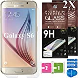 Samsung Galaxy S6 Screen Protectors [Set of 2] – Ballistic Tempered Glass – Maximum Impact Protection - 99.9% Crystal Clear HD Glass - No Bubbles – Cell Phone DIY® Premium Protector Kit