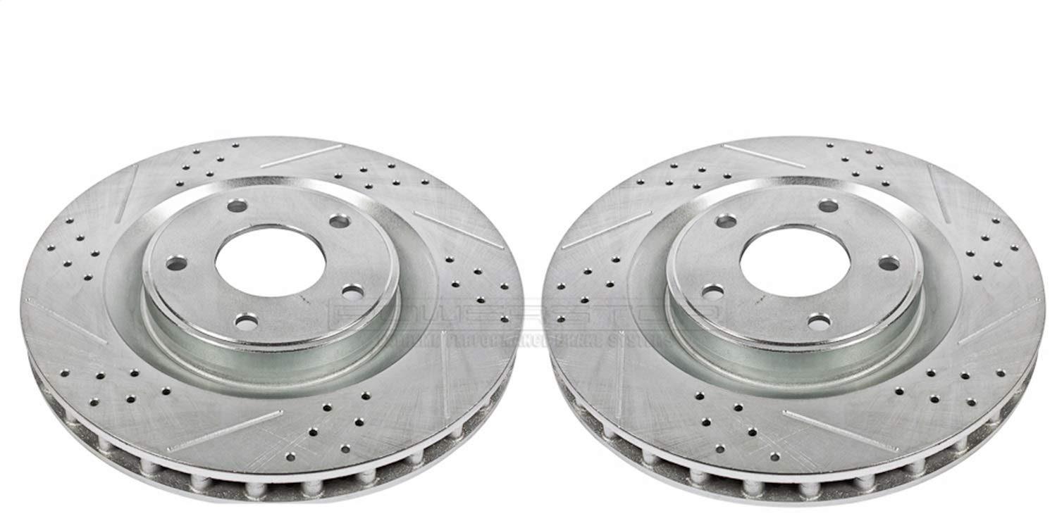 Power Stop AR82101XPR Front Evolution Drilled /& Slotted Rotor Pair