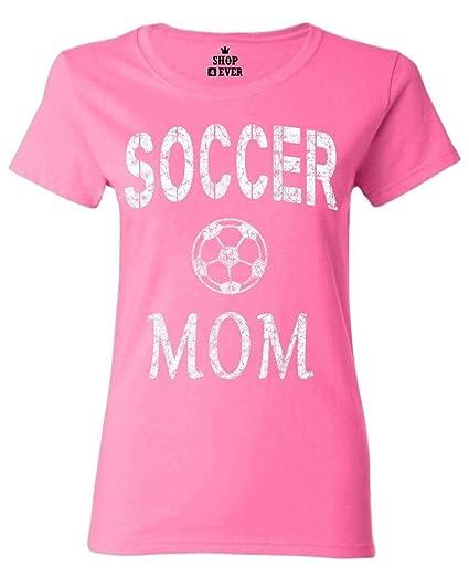 Amazon.com  Shop4Ever Soccer Mom Women s T-Shirt  Clothing c13ed64b1