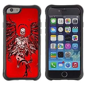 Suave TPU GEL Carcasa Funda Silicona Blando Estuche Caso de protección (para) Apple Iphone 6 / CECELL Phone case / / Angel Death Red Blood Wings Skull /