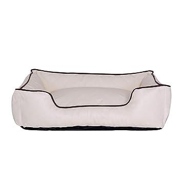 dibea Premium Dog bed DB00173, Cama para perros, en imitación de piel, Beige, XL (120 x 85 cm)
