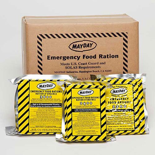 Mayday Food Bars Emergency 3600 Calorie Food Bars (20 per case) weight 39 (Mayday Food)