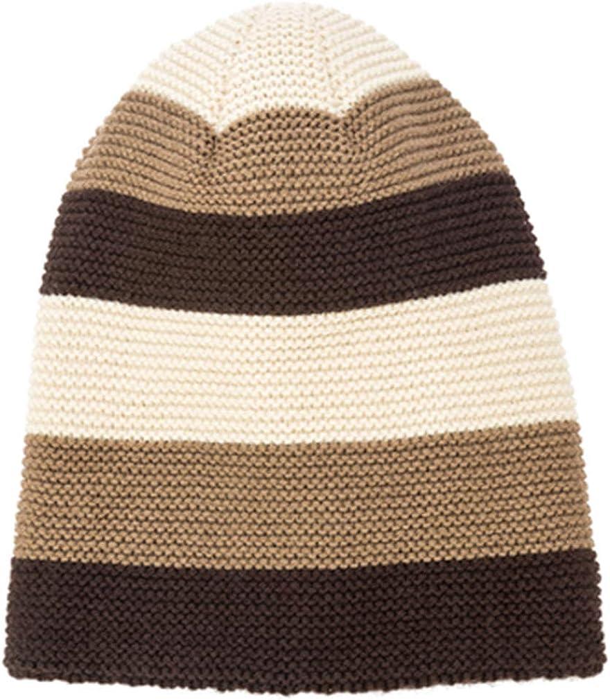 Striped Winter Hat Cap Men Thickening Fleece Liner Beanie Hat Men Knitted Hat Long Earmuffs Caps