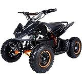 Electric 500 WATT ATV Kids Youth Sport Quad for Children with Reverse (Brushless Motor) - Black/Orange
