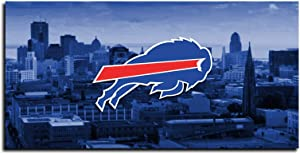 SANZHAIYISHENG Buffalo Bills Poster NFL Sport Art Prints on Canvas for Bedroom Living Room Wall Decoration Painting 1 Piece Set Unframed(12×24inch) V