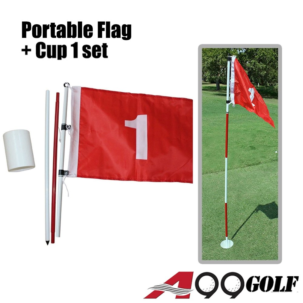 A99 Golf Practice Hole Pole Cup Flag Stick Putting Green Flagstick