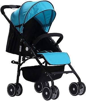 Opinión sobre ZYC-WF Bicicletas Niños, Niños Bicicleta Plegable Portátil 0-36 Meses Cochecito de Bebé Puede Sentarse Y de Descanso de Aleación de Aluminio de la Infancia de la Carretilla 76 * 50 * 100Cm,Azul,Azul