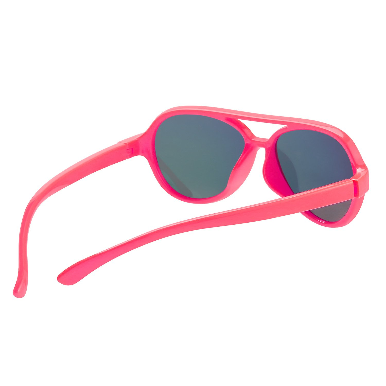 Kids Sunglasses Rubber Flexible Polarized Aviator Sunglasse For Children Age 3-10(PINK/PINK)