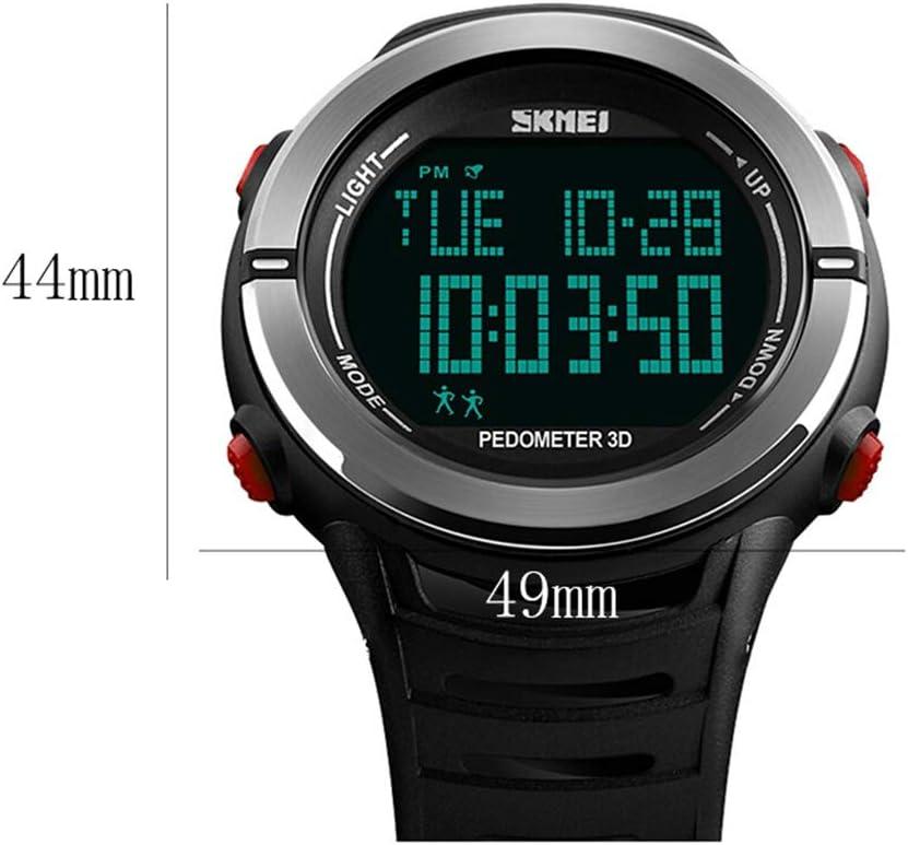 A-ZHP Orologio da Uomo Sport Watch Outdoor Hiking Impermeabile Multifunzione con Sveglia Calendario Orologi Luminosi (Color : B) B
